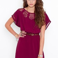 Web Cutout Dress - Wine in Clothes Dresses at Nasty Gal