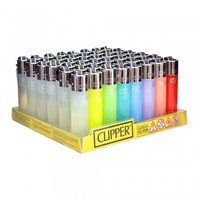MINI CLIPPER LIGHTERS - ASSORTED COLORS - 48 COUNT