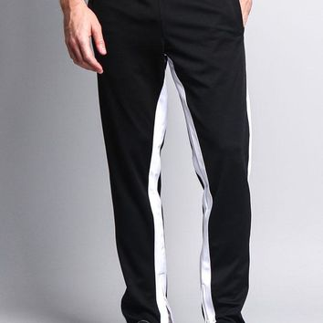 Men's Slim Fit Dual Stripe Track Pants TR513 - F10D