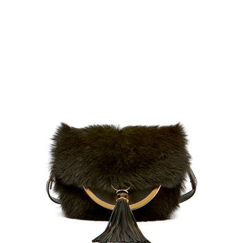 Balmain Domaine 18 Fur Shoulder Bag
