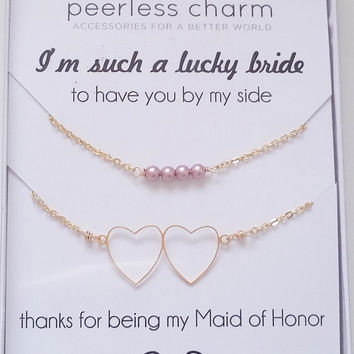 Customize Your Maid of Honor Thank You Necklace