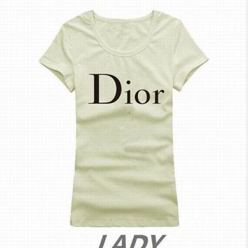 Dior short round collar T woman S-XL