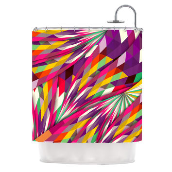 "Danny Ivan ""Sweet"" Multicolor Geometric Shower Curtain"