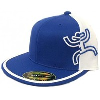 HOOey Cap Solo Blue and White Premium Fitted Cowboy Cap