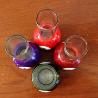 Pool Ball Billard Shot Drink Glasses Set of Four