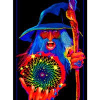 BL6023 - Opticz Mystic Wizard Blacklight Poster