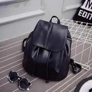 2016 summer new college wind schoolbag washed leather backpack woman  Korean tidal fashion leisure travel bag Boutique backpacks