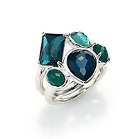 IPPOLITA - Rock Candy Wonderland Neptune Semi-Precious Multi-Stone & Sterling Silver Cluster Ring - Saks Fifth Avenue Mobile
