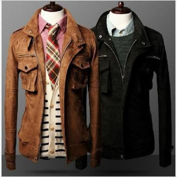 Men's Retro Business Fashion Jacket In 2 Colors