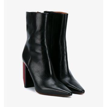 Reflector Heel Leather Boots - VETEMENTS