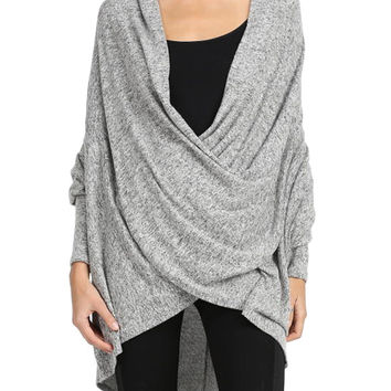 Heather Gray Pullover Tunic Top