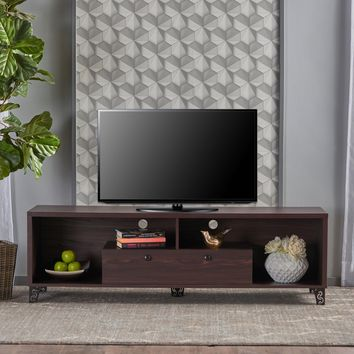 Celia Mid Century Modern Finished Fiberboard Entertainment Unit