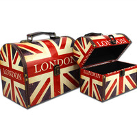 England Style Style Engliand Flag Storage Box Home Decoration Accessory Box [6282878214]