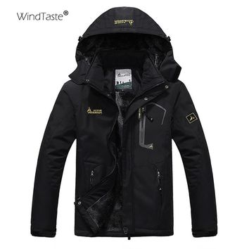 WindTaste Men's Winter Inner Fleece Waterproof Jacket Outdoor Sport Warm Coats Hiking Camping Trekking Skiing Male Jackets KA089