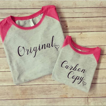 Mommy and Me Raglan sets- mommy and me- raglans- original- carbon copy raglans- mother- daughter