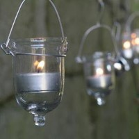 Fire Fly Tear Drop T Light Holder