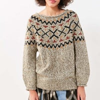 Ecote Cassie Fair Isle Off-The-Shoulder Sweater - Urban Outfitters