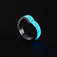 Glow In The Dark Fluorescent Heart Ring