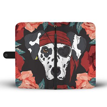 Dalmatian Pirate Wallet Phone Case