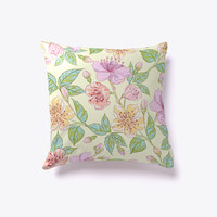 Vintage Floral Pattern Decorative Pillow