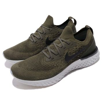 Nike Epic React Flyknit Olive Green Matcha Men Running Shoes Sneakers AQ0067-300
