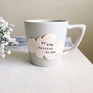 Large Mug With Cloud - Cappuccino Mug - Large Cup - Quote Mug - Cloud Mug - Mug with Saying - Cool Mug - Cup with Attitude - Fun Mug