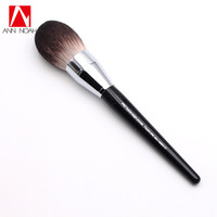 Professional Black Long Wood Handle Velvet Touch Feeling Synthetic Fiber 91 Large Pro Feather Weight Powder Makeup Brushes