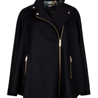 Zip front cape - Black | Jackets & Coats | Ted Baker