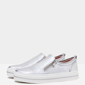 Bershka slip-ons with zippers - Woman - Bershka Ireland