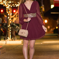Light Of Life Dress, Burgundy