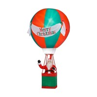 SheilaShrubs.com: Santa in Hot Air Balloon with Merry Christmas Banner G08 83589X by Gemmy Industries: Christmas Outdoor Decor