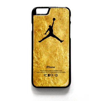 Michael Jordan Golden Gold Pattern iPhone 4 4S 5 5S 5C 6 6 Plus , iPod 4 5  , Samsung Galaxy S3 S4 S5 Note 3 Note 4 , and HTC One X M7 M8 Case