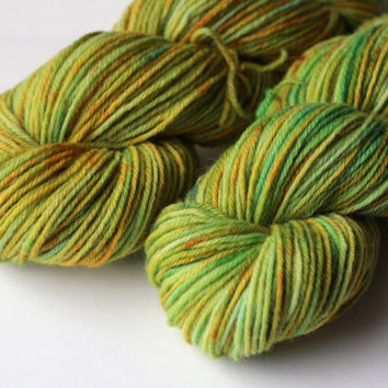 Lichen - Worsted Weight Hand-Dyed Wool Yarn - 220 Yards / 100g
