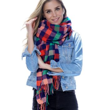 Shiraleah Melanie Plaid Scarf