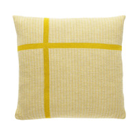 Merino Wool Yellow Cross Cushion