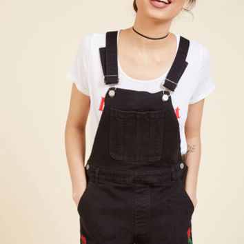 Shortalls and Sweet Denim Romper | Mod Retro Vintage Shorts | ModCloth.com