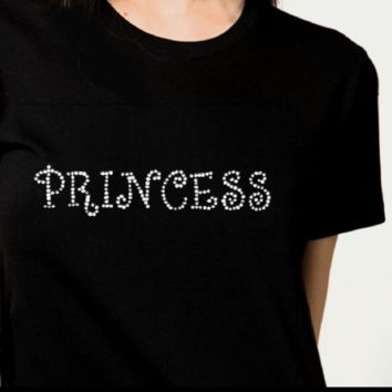 Bling T-Shirts | Women-Princess -Rhinestones-SHIRT Shop Here!