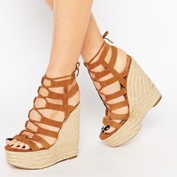 River Island Caged High Wedge at asos.com
