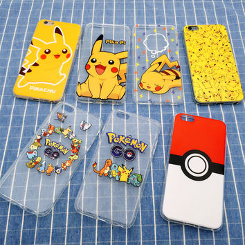 3D Cartoon Pocket Monsters Pokemon Pikachu Case Silicone Ultrathin Anti Knock TPU Cover For iPhone SE 5 5S & 6 6S & 6 6S Plus