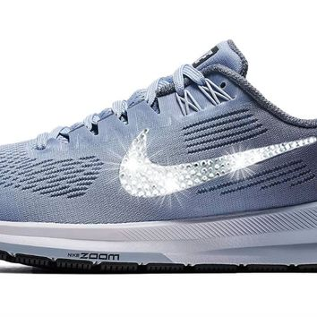 Nike Air Zoom Structure 21 + Crystals - Armory Blue