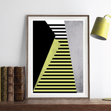 INSTANT DOWNLOAD. Abstract art Triangles Poster Geometric art poster Minimal Modern Scandinavian Nordic Style Abstract Digital poster.
