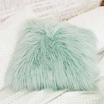 Dormify Faux Lamb Fur Pillow , Teal