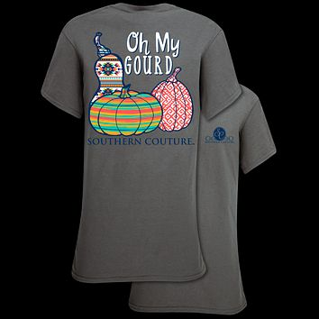 Southern Couture Classic Oh My Gourd Pumpkins Fall T-Shirt