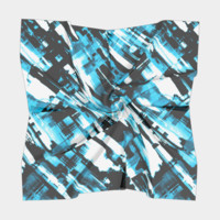 Hot blue and black digital art G253 Square Scarf Square Scarf