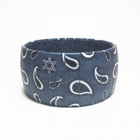 Bandana Print Bangle Bracelet, Western design bracelet, Gifts for Cowgirls,