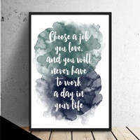 Typography quote print, colorful watercolor poster, quote poster, quote wall art (C139)