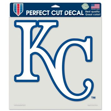 "MLB Kansas CIty Royals Primary Logo Perfect Die Cut Car Sticker Decal 8"" x 8"""