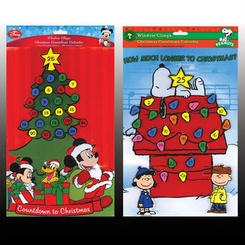 12 Advent Calendars - Disney And Peanuts