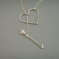 Silver Heartbreaker Necklace by bbel on Etsy