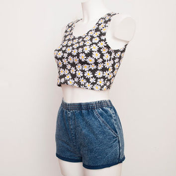 90s Dead stock Vintage Denim cut off Shorts Size XS
